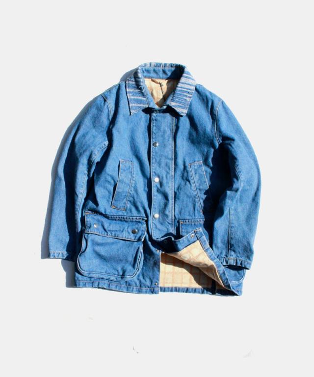KUON Field jacket indigo(bleached)