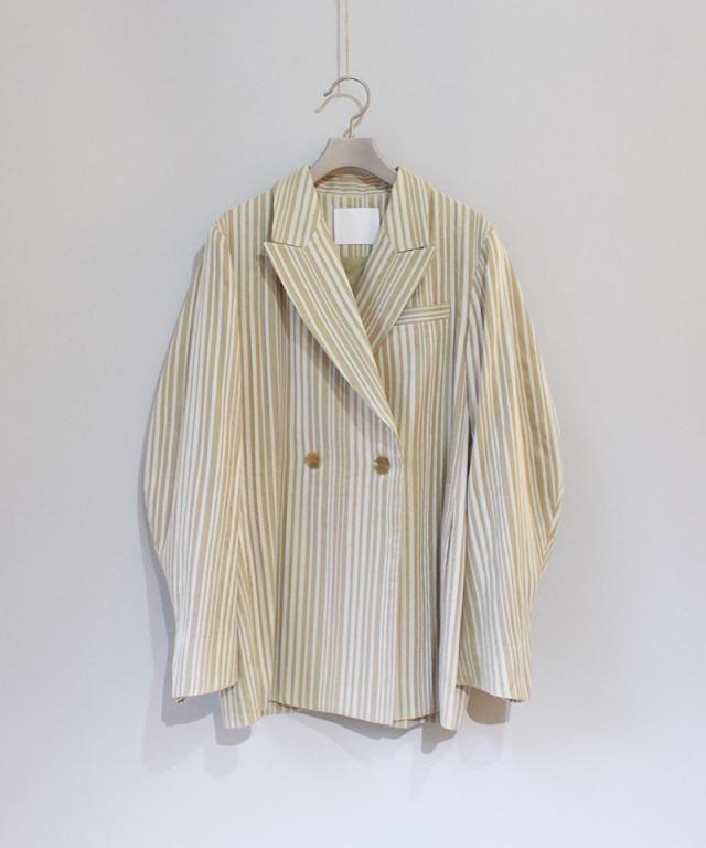 mame Stripe Jacket BEIGE