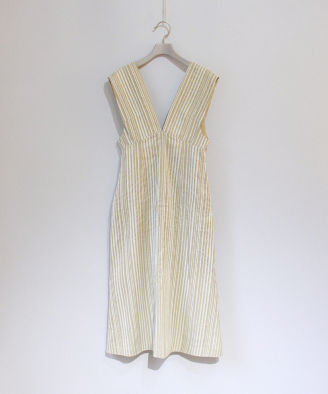 mame Stripe Dress BEIGE