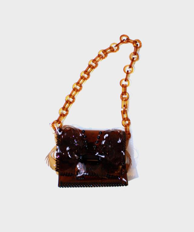 mame Vinyl Chloride Mini Chain Bag BROWN
