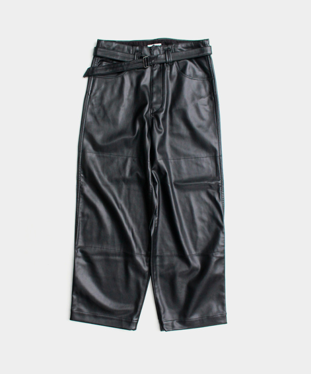 saby SUPER BIG PANTS WASHABLE LAMB SKIN BLACK