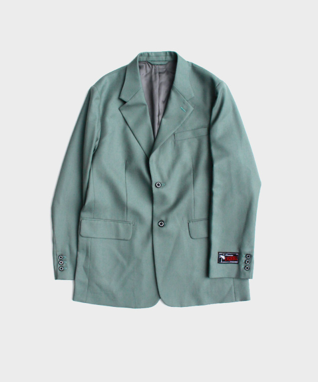 DAIRIKU Long Wool Tailored Moss Green
