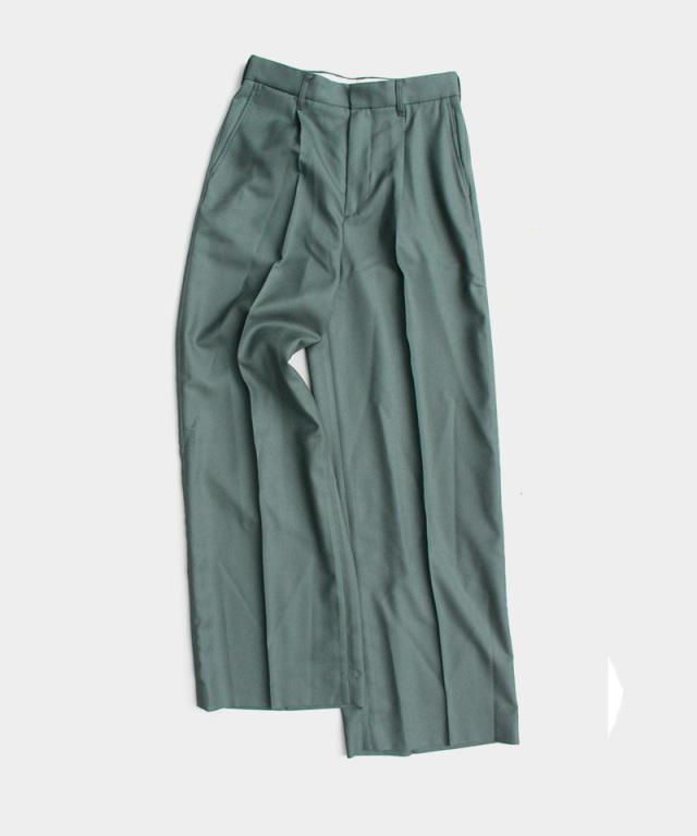 DAIRIKU Wool Wide Slacks Moss Green