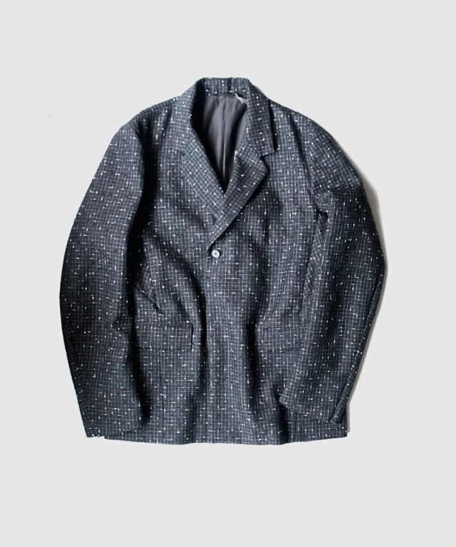 NULABEL TAILORED JACKET(REFLECTOR TWEED) black