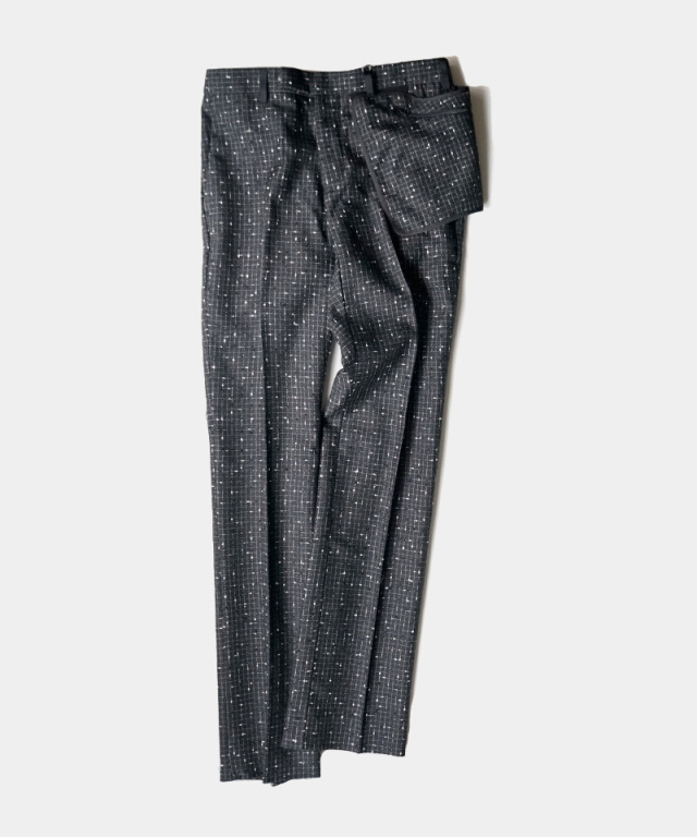 NULABEL SLACKS(REFLECTOR TWEED) black