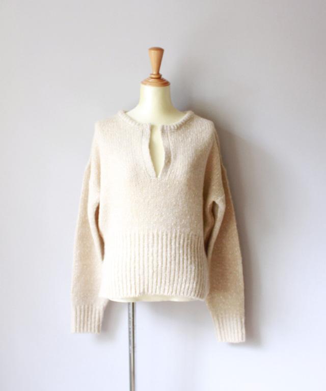 WANDERUNG Mix yarn knit BEIGE