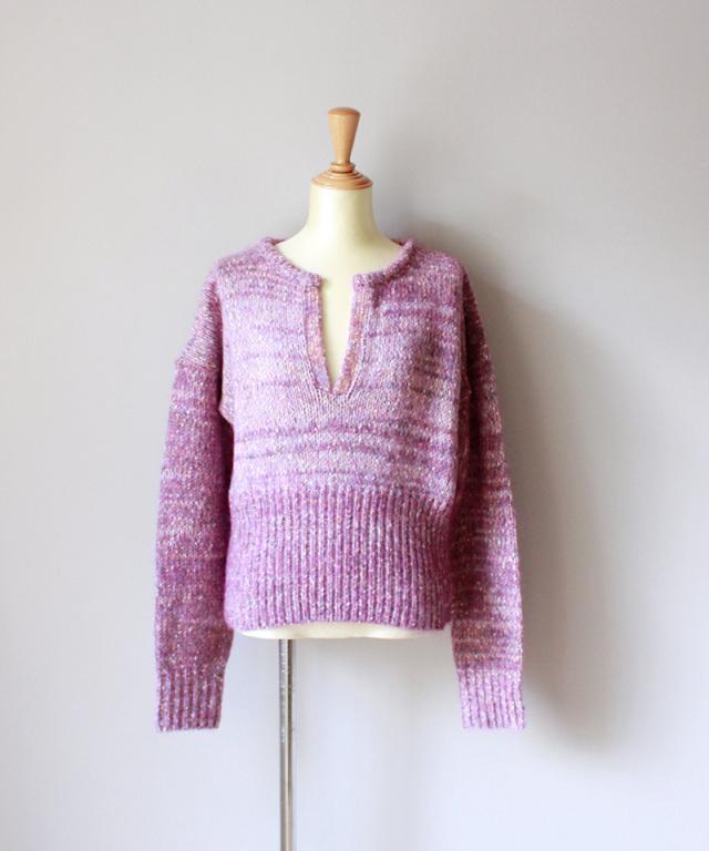 WANDERUNG Mix yarn knit PINK