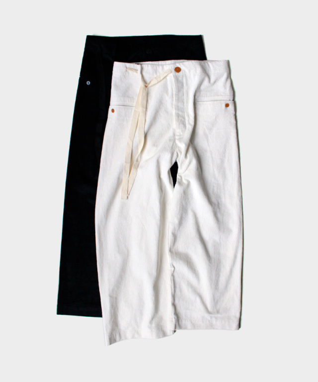 EASY TO WEAR CORDUROY PANTS BAGGY WHITE