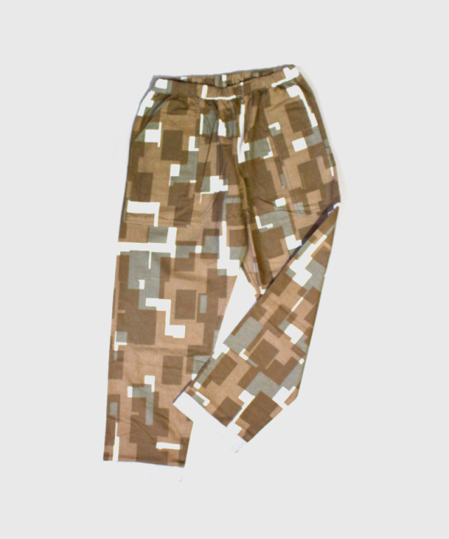 PHINGERIN NIGHT PANTS NEL OVERLAYED SQUARES A:BEIGE
