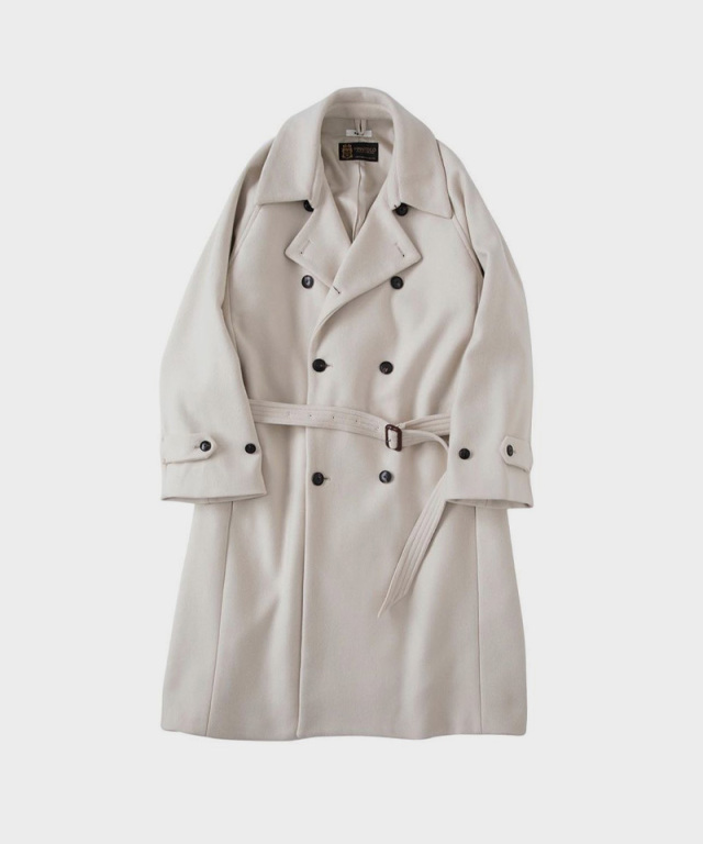 saby DOUBLE BREASTED COAT MANTECO ITALY