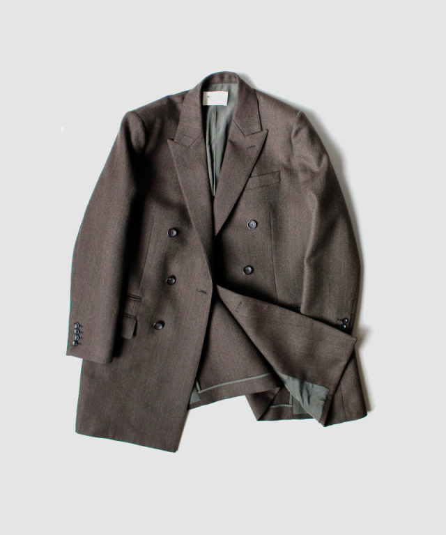 beautiful people grating herringbone tailored jacket dark olive