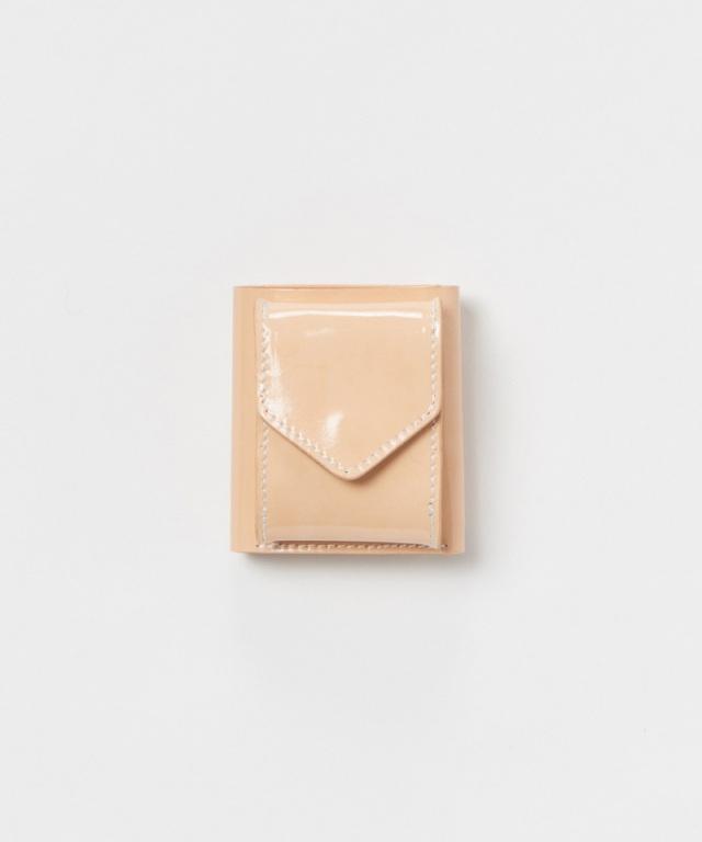 Hender Scheme trifold wallet patent natural