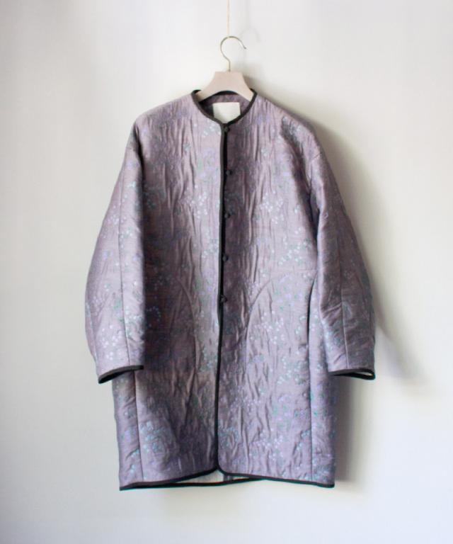 mame Floral Jacquard coat PURPLE