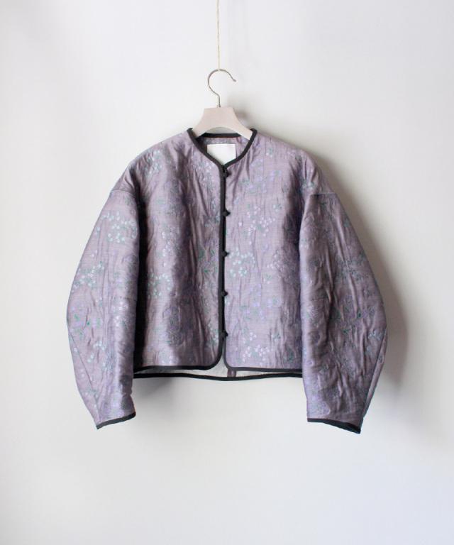mame Floral Jacquard Jacket PURPLE
