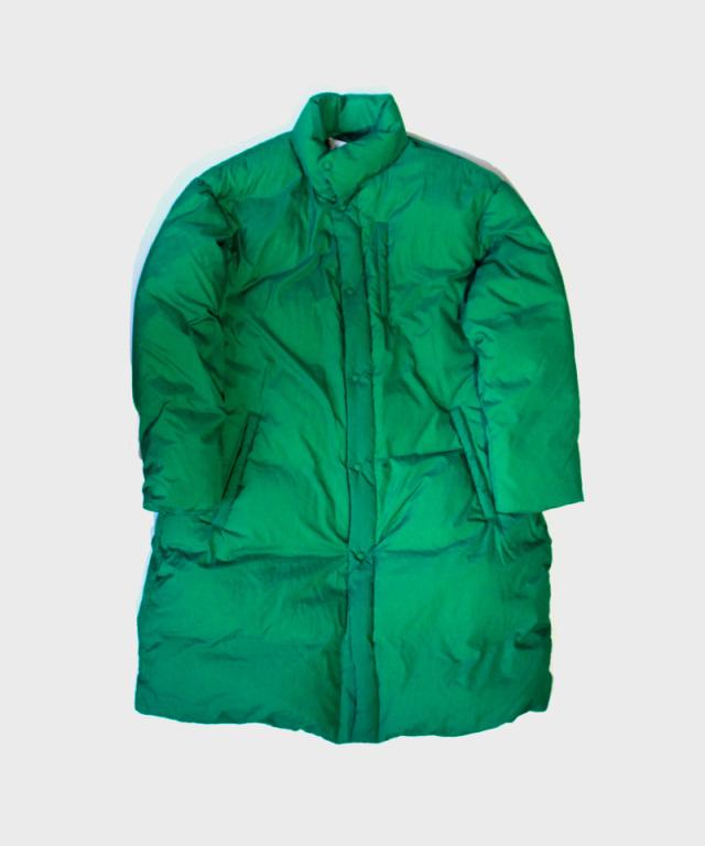 POLYPLOID STAND COLLAR PUFFER COAT C GREEN