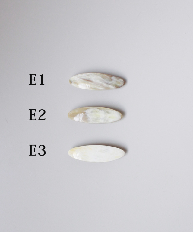 KOST KAMM Hair clip water Buffalo Horn/6cm TYPE-E - Ladys