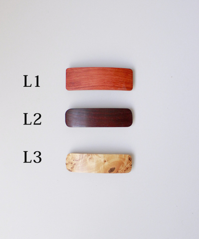 KOST KAMM Hair clip natural wood 8cm TYPE-L