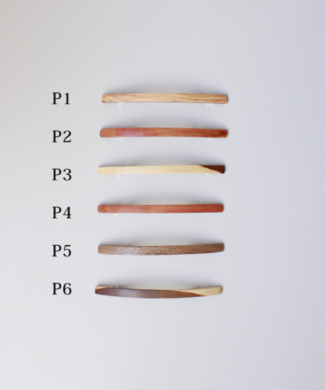 KOST KAMM Hair clip natural wood extra slender shape 6cm TYPE-P