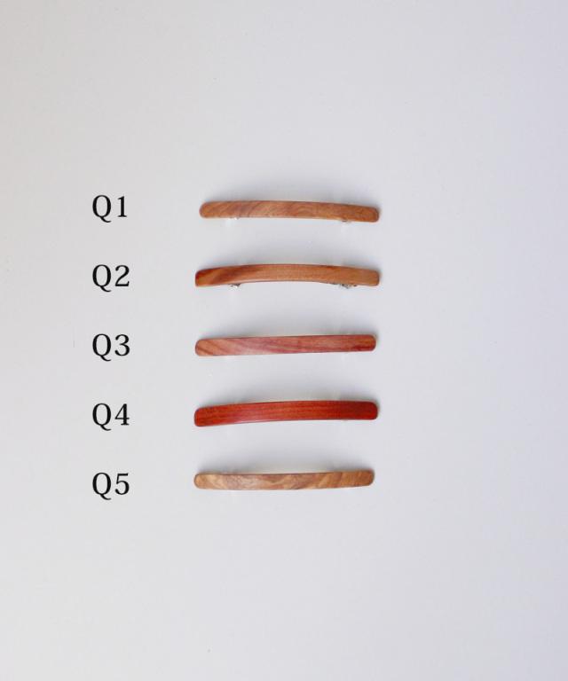 KOST KAMM Hair clip natural wood extra slender shape 6cm TYPE-Q