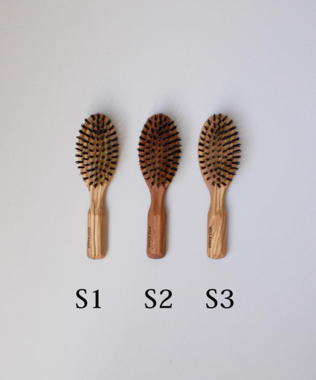 KOST KAMM wooden brush olive wood oval shape 7row 17cm