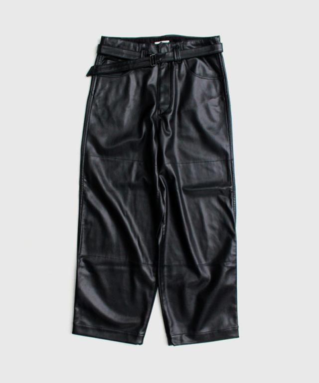 saby SUPER BIG PANTS-WASHABLE LAMB SKIN- BLACK