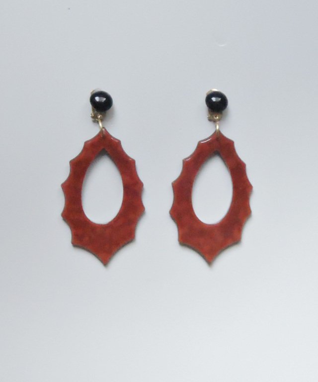 France vintage vintage motif earring red