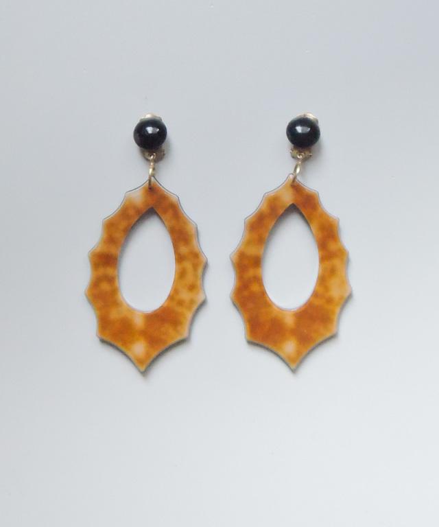 France vintage vintage motif earring orange
