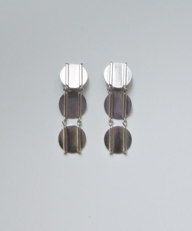 France vintage silver 3 plate earring