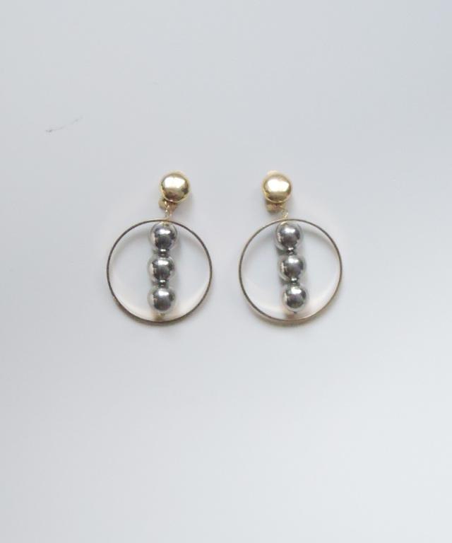 France vintage foop 3 ball earring