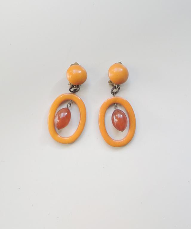 France vintage vintage bakelite earring