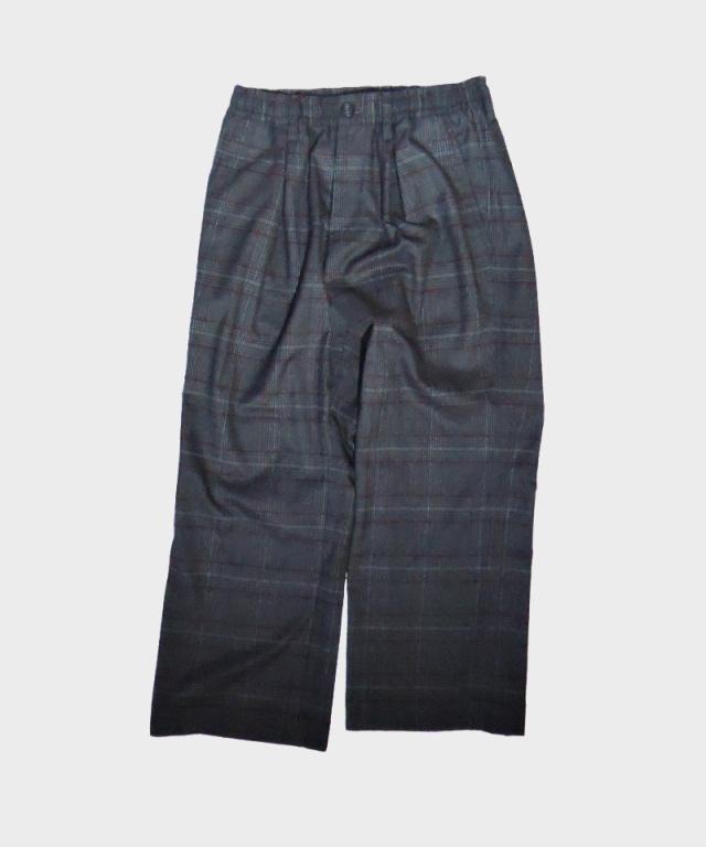 tence atelier uniform trousers wide sombre lattice