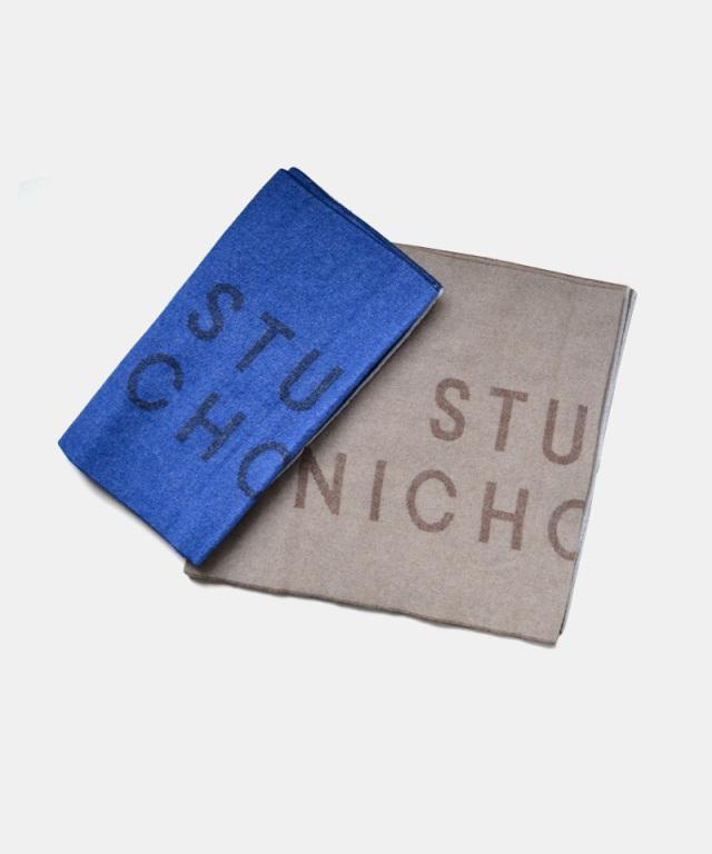 STUDIO NICHOLSON wool the logo scarf