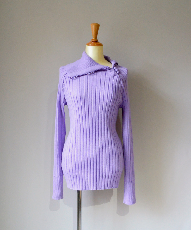 kengo wide rib color knit sewn LAVENDER