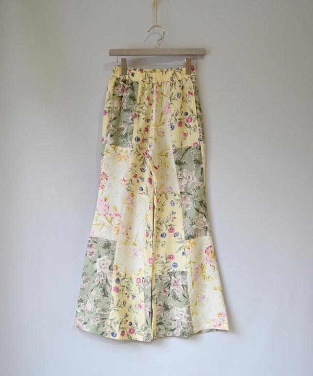 MALION vintage FLOWER FLARE PANTS ASSORT-A