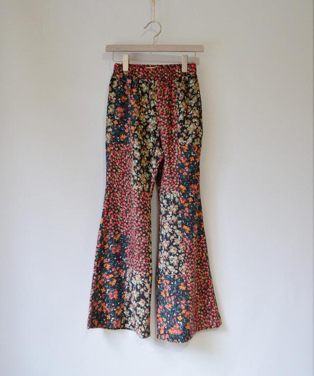 MALION vintage FLOWER FLARE PANTS ASSORT-B