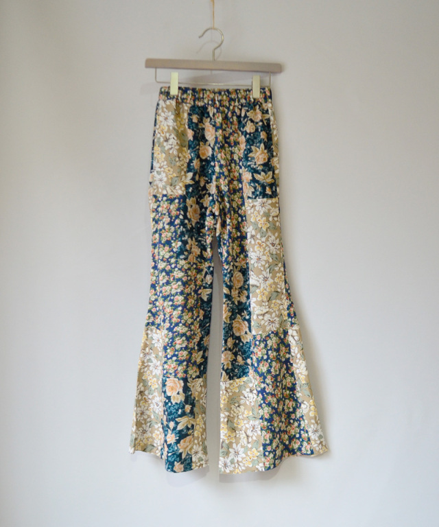 MALION vintage FLOWER FLARE PANTS ASSORT-E