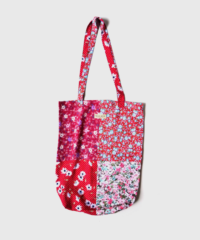MALION vintage FLOWER RAYON TOTE BAG ASSORT-A