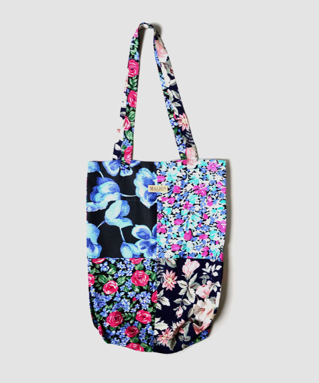 MALION vintage FLOWER RAYON TOTE BAG ASSORT-C