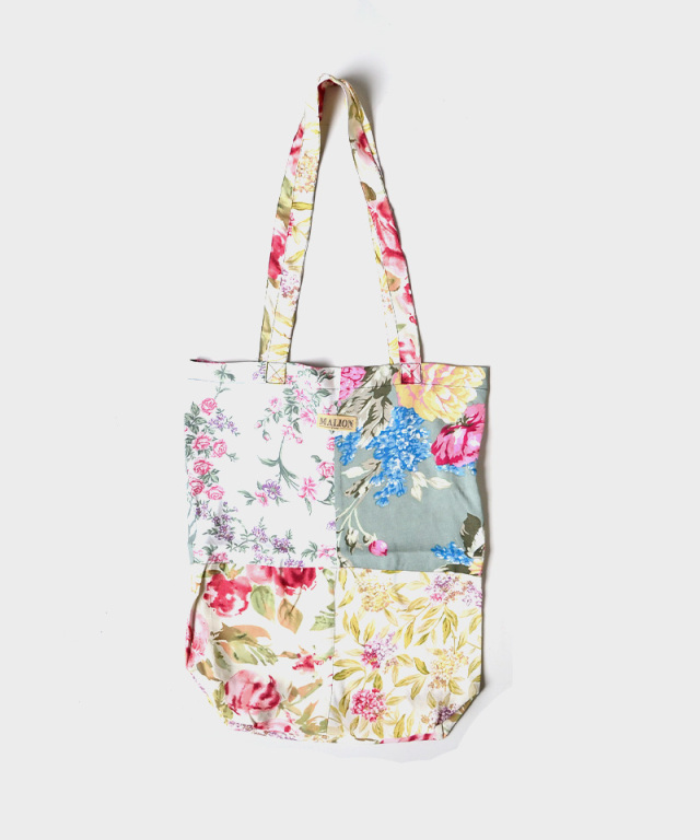 MALION vintage FLOWER RAYON TOTE BAG ASSORT-D