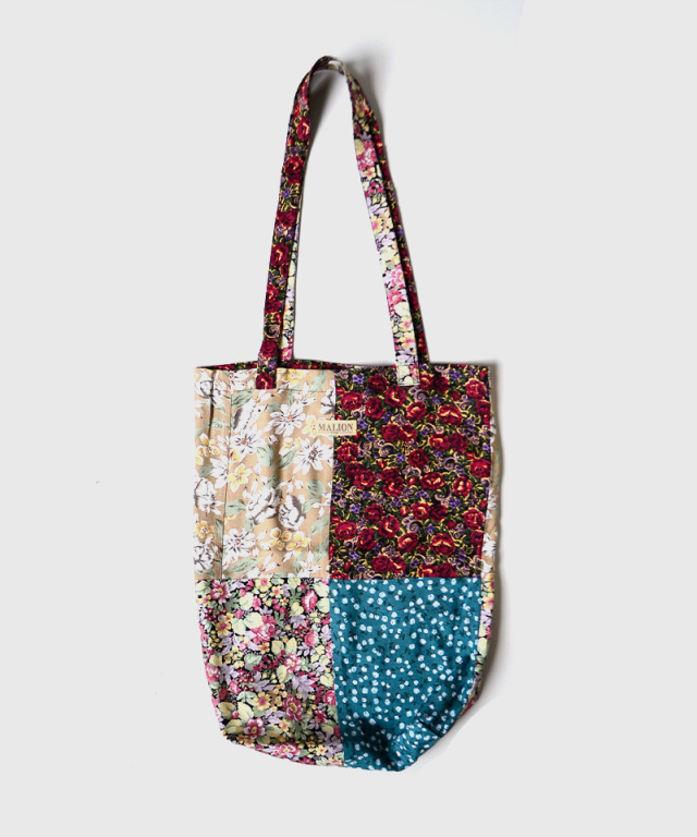 MALION vintage FLOWER RAYON TOTE BAG ASSORT-E