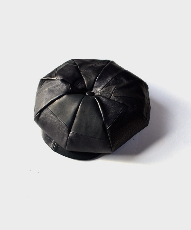 bocodeco Leather Patchwork Casquette black
