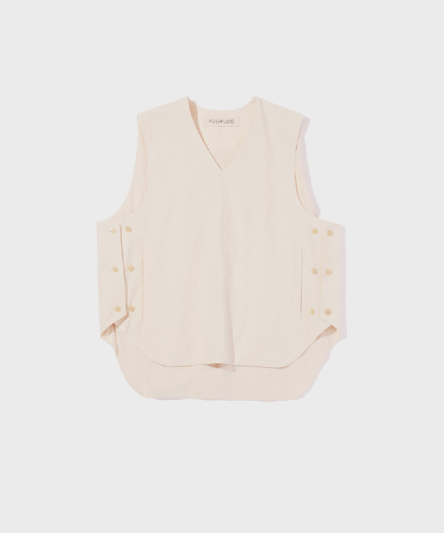 POLYPLOID VEST A OFF WHITE