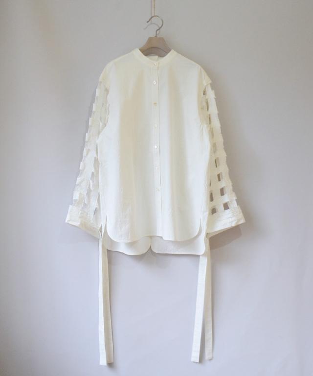 ERiKO KATORi Tape embroidery shirts WHT