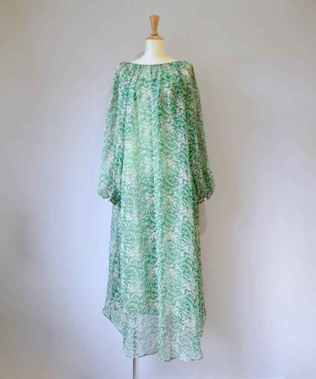 ERiKO KATORi flower chiffon dress GRN