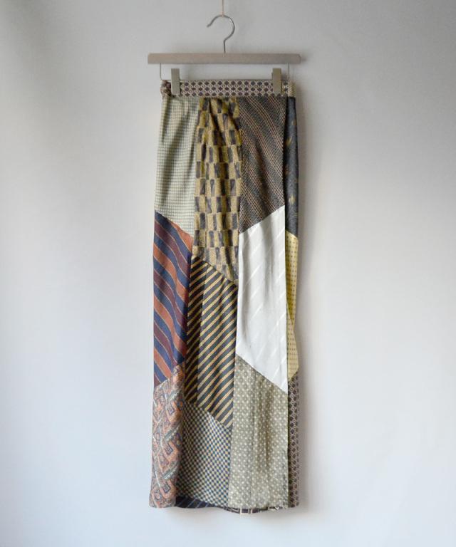MALION vintage Tie patchwork skirt ASSORT-A