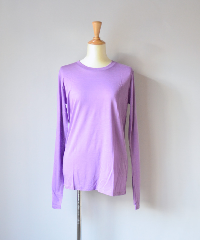 BASERANGE LONG SLEEVE TEE CHAY PURPLE