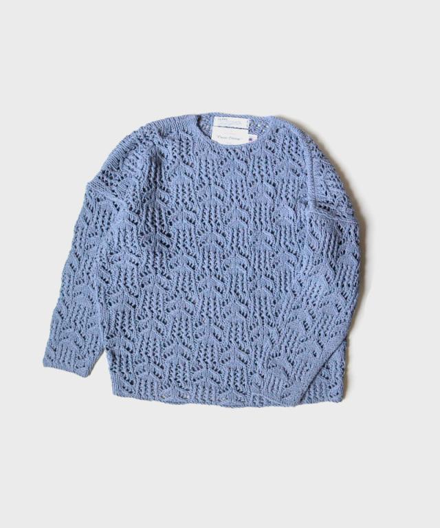 DAIRIKU Flower Pattern Hand Knitting Sky