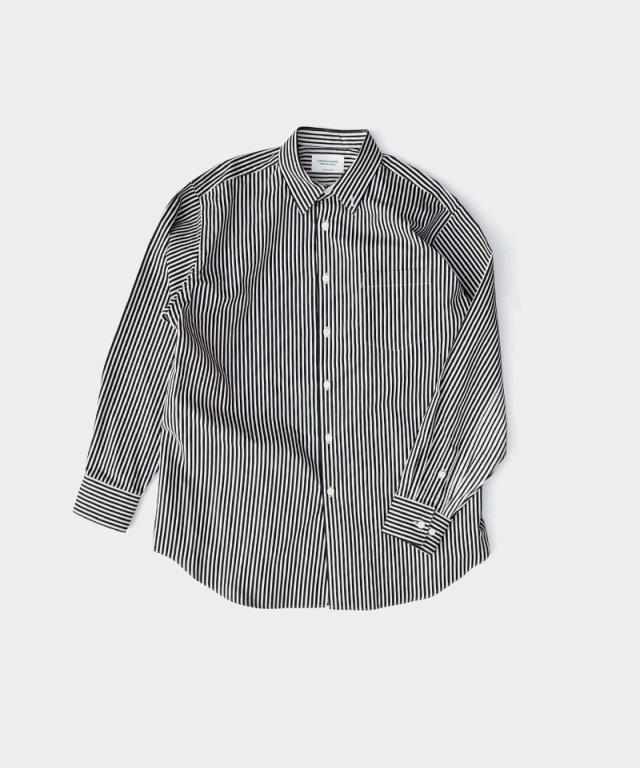 beautiful people striperiver chinwarmer shirt ecru??bk