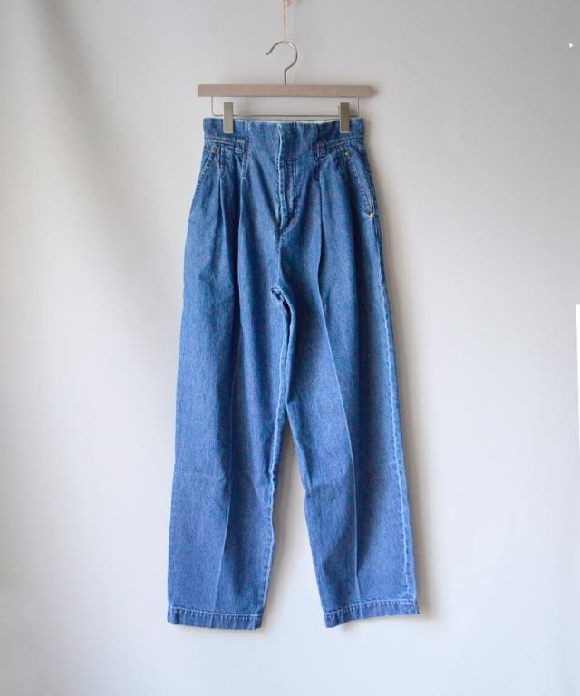 mame PT High-Waisted Denim Pants BLUE