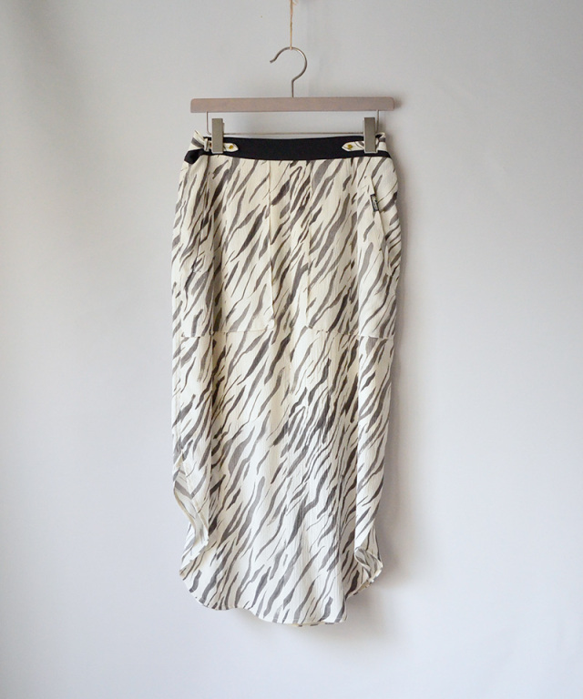 PHOTOCOPIEU side slit skirt WHITE TIGER